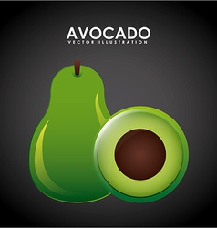 Avocado design vector