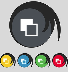 Active color toolbar icon sign symbol on five vector