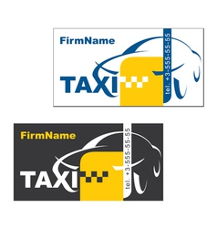 Taxi firm name card vector