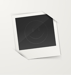 Empty photo frame vector
