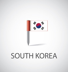 South korea flag pin vector