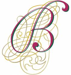 Script letter b vector