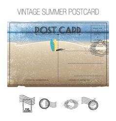 Summer postcard vector
