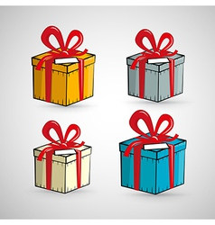 Present boxes isolated on white background vector