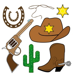 Cowboy design elements vector