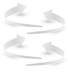 Origami arrow paper vector
