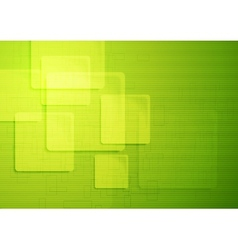 Bright green technical squares background vector