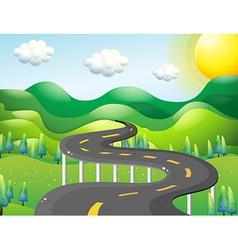 A very narrow road vector