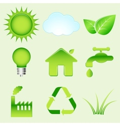 Environmental icons vector