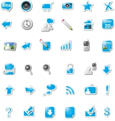 Digital media icons vector