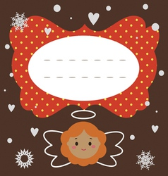 Holiday postcard with angel vector