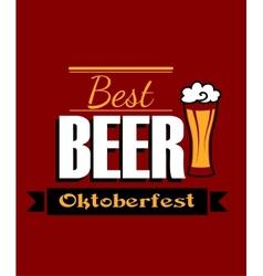 German best beer banner vector