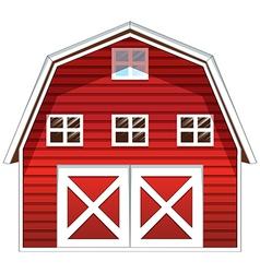 A red barn house vector