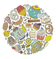 Dessert concept vector