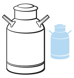 Milk can vector