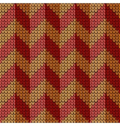 Seamless knit work chevron vector