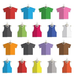 Vests and tshirts vector