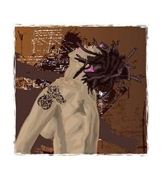 Grunge rockstar vector