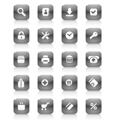 Black buttons for internet and shopping vector