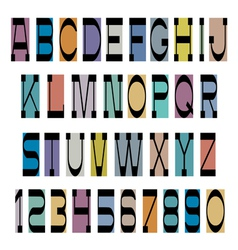 Black font on colored base vector