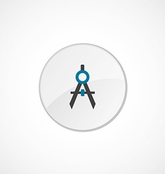 Compasses icon 2 colored vector