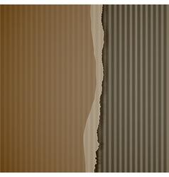 Torn corrugated cardboard vector