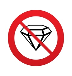 Diamond sign icon jewelry symbol gem stone vector