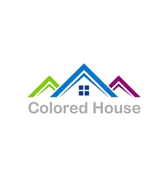 House color roof business realty logo vector