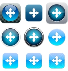 Map blue app icons vector