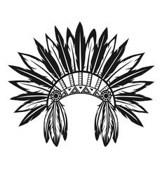 Indian headdress vector