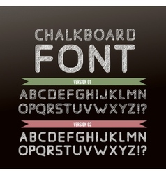 Chalk font in two variations vector