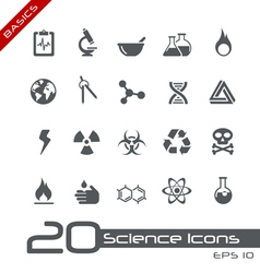 Science basics series vector