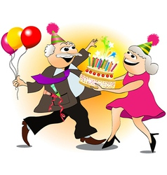 Grandfather birthday party vector
