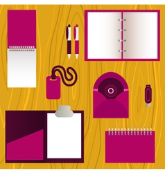 Set of mock-up corporate identity objects vector