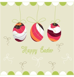 Happy easter eggs vector
