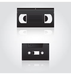 Audio and video cassette symbols eps10 vector
