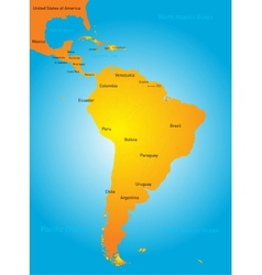South america countries vector