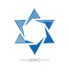 Star of david on white background vector