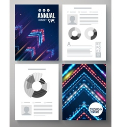 Artistic annual report template vector