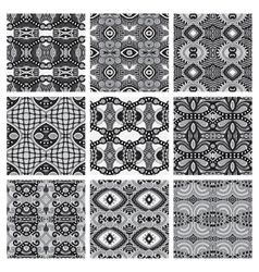 Set of grey different seamless vintage geometric vector