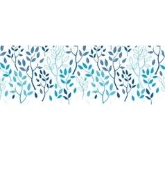 Blue forest horizontal border seamless vector