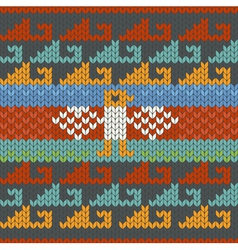 Seamless traditional peru knitting pattern vector