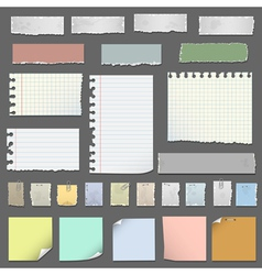 Collection of various notes paper vector