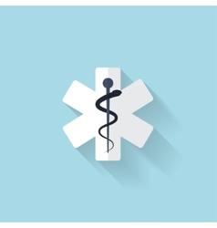 Flat web internet icon ambulance symbol vector