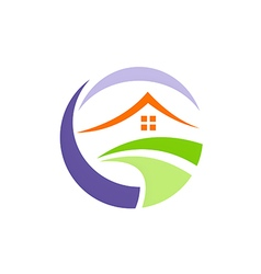 House environment villa realty logo vector