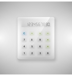Glass calculator vector