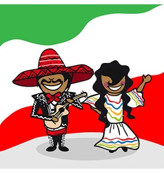 Welcome to mexico people vector