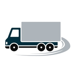 Sign with shipping truck vector
