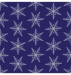 Christmas snowflakes seamless background vector