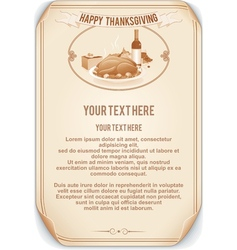 Retro style thanksgiving background vector